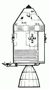 Illustration of a rocket